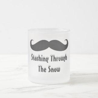 Mustaschmugg! Frostad Glas Mugg