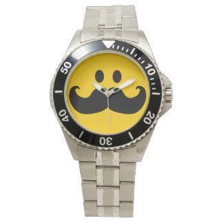 Mustaschsmiley face armbandsur