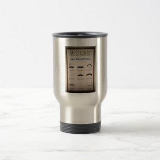 Mustaschtravel mug rostfritt stål resemugg