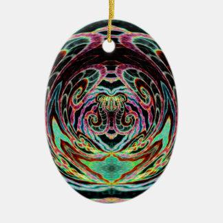Mustaschvalross Julgransprydnad Keramik