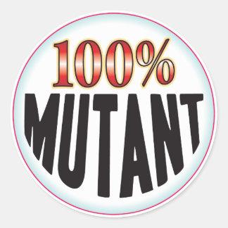 Mutantmärkre Runt Klistermärke