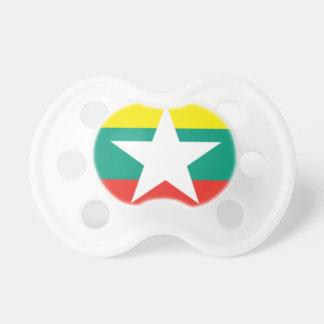 Myanmar (Burma) flagga Bebis Nappar