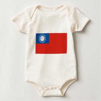 Myanmar flagga bodies för bebisar