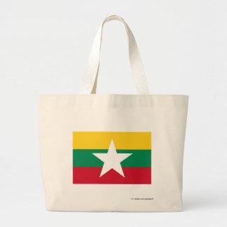 Myanmar flagga jumbo tygkasse