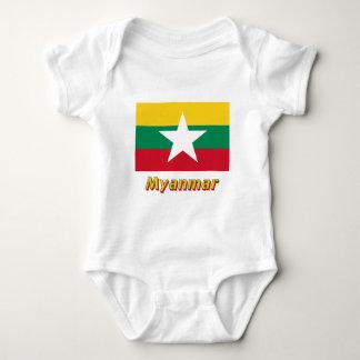 Myanmar flagga med namn t shirt