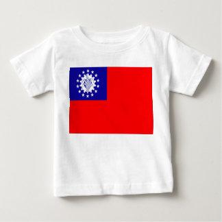 Myanmar flagga t-shirt