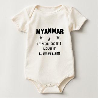 Myanmar, om du inte älskar den, lämna sparkdräkter