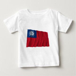 Myanmar som vinkar flagga 1974-2010 t-shirt