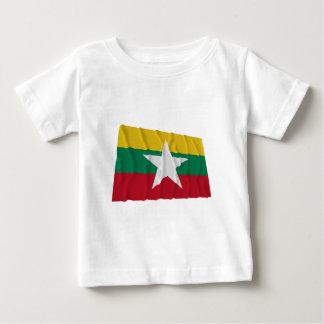 Myanmar som vinkar flagga t-shirt