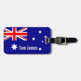 Mycket coolt flagga av Australien med monogramen Bagagebricka