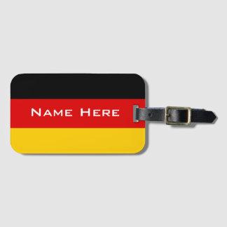 Mycket coolt flagga av Tysklandet med monogramen Bagagebricka