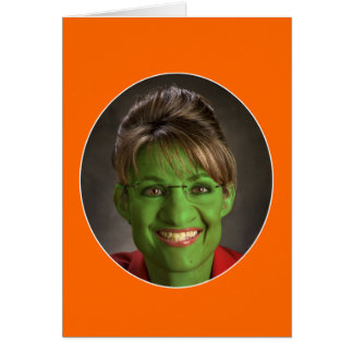 Mycket en Palin Halloween! Hälsningskort