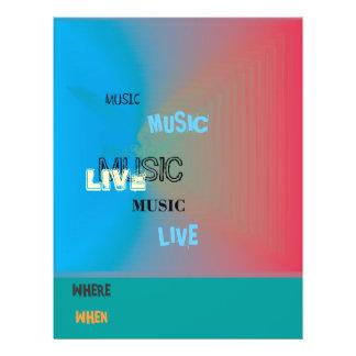 Mycket färgglatt > musikreklamblad reklamblad 21,5 x 30 cm