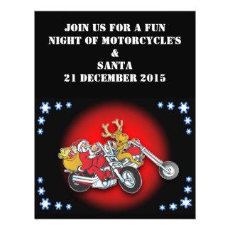 Mycket god jul från denna biker Santa Reklamblad