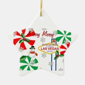 Mycket god jul i den Las Vegas prydnaden Juldekoration