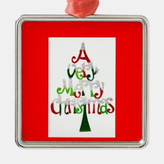 Mycket god jul julgransprydnad metall