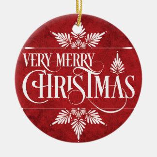 Mycket god julprydnad rund julgransprydnad i keramik
