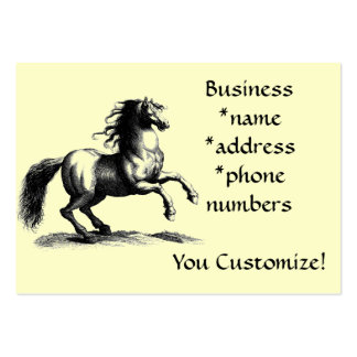 Mycket ivriga Horse* för *Vintage visitkortar Visitkort Mallar