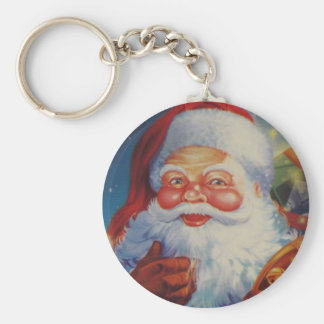 Mycket kall jultomten Keychain Rund Nyckelring