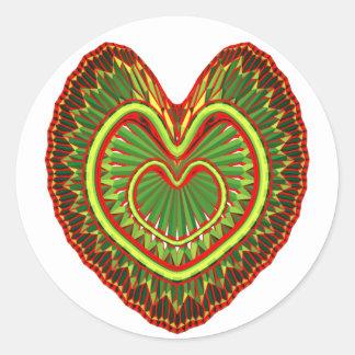 Mycket kärlek runt klistermärke