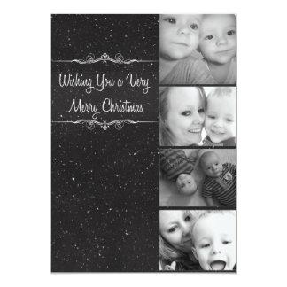Mycket kort för god julsnöfoto 12,7 x 17,8 cm inbjudningskort
