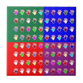MYCKET LILLA HÄNDERvälsignelseDIAGRAM: ColorMANIA Kakelplatta