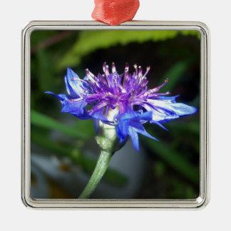 Mycket liten blått- och Violetblommar Julgransprydnad Metall