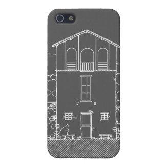 Mycket liten husgrå färg och svart tavlateckning iPhone 5 fodraler