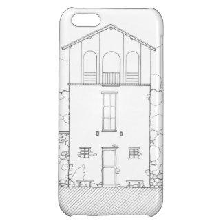 Mycket liten hussvart & teckning för iPhone 5C mobil skal