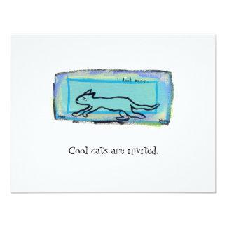 Mycket liten konst #397 - jag att bry sig inte 10,8 x 14 cm inbjudningskort