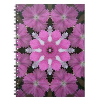 Mycket liten rosa bukett anteckningsbok