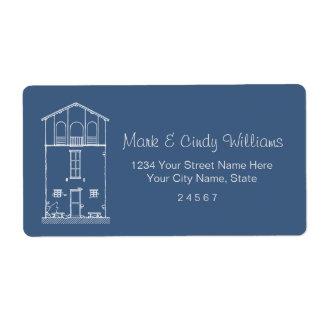 Mycket liten teckning för stil för husblått- & fraktsedel