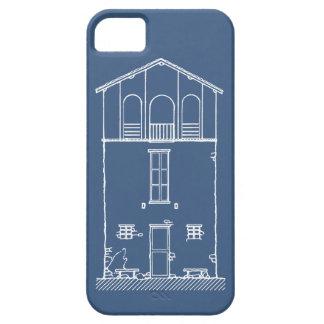 Mycket liten teckning för stil för husblått- & iPhone 5 Case-Mate skal