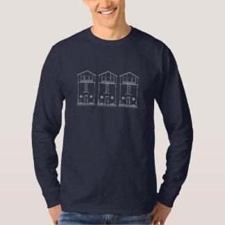 Mycket liten teckning för stil för husblått- & t shirt