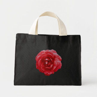 Mycket liten toto - röd röd ros tote bags