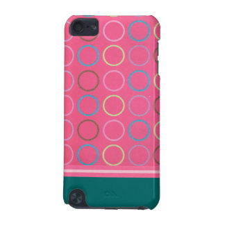 Mycket rosa cirklar ipod touch case