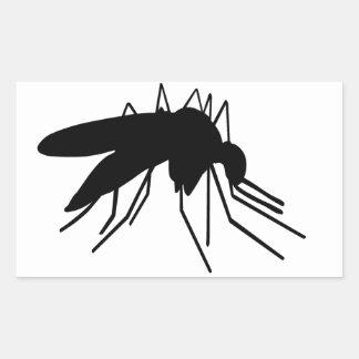 Mygga Rektangulärt Klistermärke
