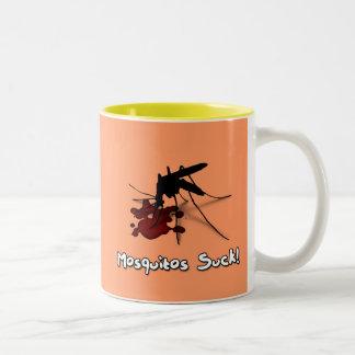 Myggor suger Två-Tonad mugg