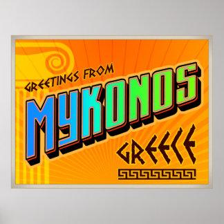 MYKONOS-affisch Poster