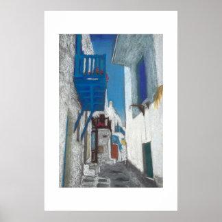 Mykonos balkong poster