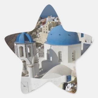 Mykonos Grekland reser Stjärnformat Klistermärke