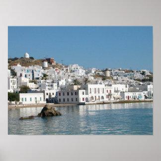Mykonos Grekland tryck