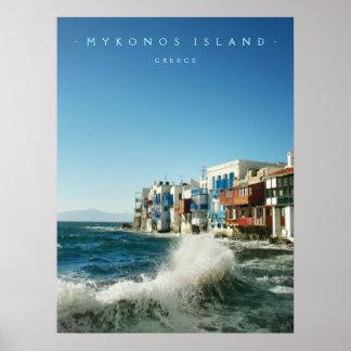 Mykonos:: Lite Venedig - affisch