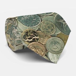 Mynt av det kontant fotomönster för värld | slips