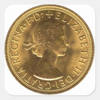 Mynta mallen fyrkantigt klistermärke