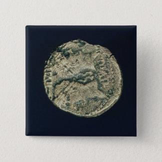 Mynta med huvud av Julius Caesar och Augustus Standard Kanpp Fyrkantig 5.1 Cm