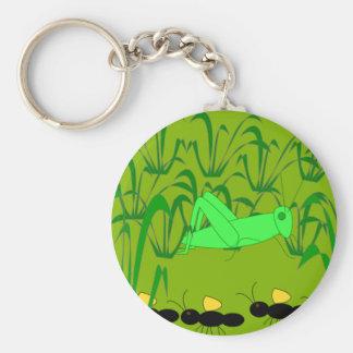 Myra och gräshoppa Keychain Rund Nyckelring