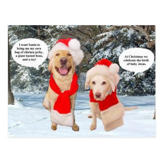Myrtie & Moses på jul Vykort