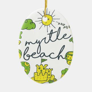 Myrtle Beach skrivar Julgransprydnad Keramik