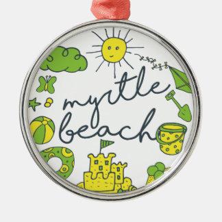Myrtle Beach skrivar Julgransprydnad Metall